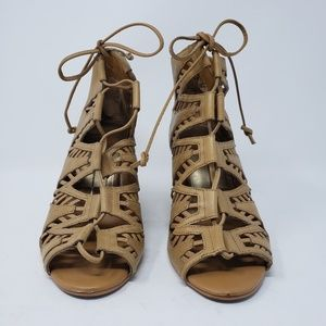 Dolce Vita Shoes - Dolce Vita wedge lace up tan heels size 9